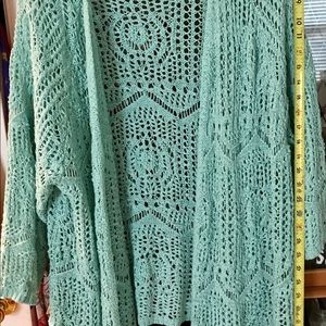Coldwater Creek Open Crochet Cardigan